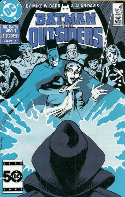 Cover for Batman and the Outsiders (DC, 1983 series) #28 [Direct]