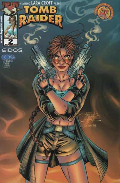 Cover for Tomb Raider: The Series (Image, 1999 series) #2 [Tower Records Metallic Variant]
