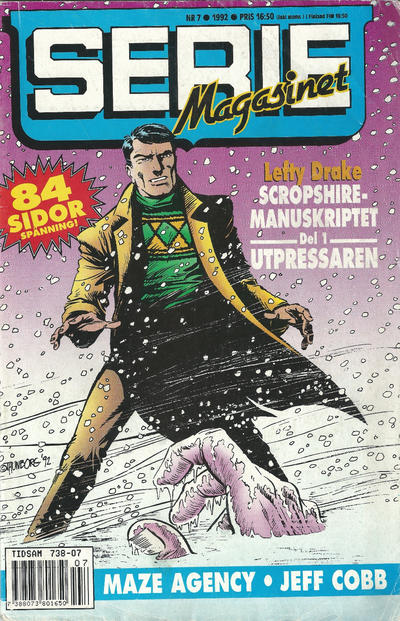 Cover for Seriemagasinet (Semic, 1970 series) #7/1992