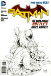Cover Thumbnail for Batman (2011 series) #20 [Greg Capullo Black & White Cover]