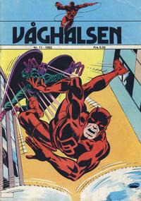 Cover Thumbnail for Våghalsen (Atlantic Forlag, 1982 series) #11/1982