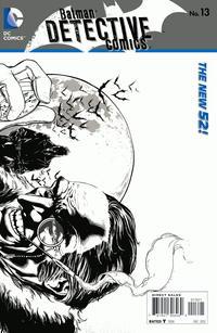 Cover Thumbnail for Detective Comics (DC, 2011 series) #13 [Wraparound Black & White Variant by Jason Fabok]