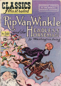 Cover for Classics Illustrated (Gilberton, 1947 series) #12 [HRN 60] - Rip Van Winkle and the Headless Horseman