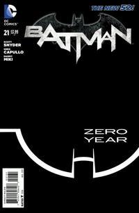 Cover Thumbnail for Batman (DC, 2011 series) #21 [Greg Capullo Black & White Cover]