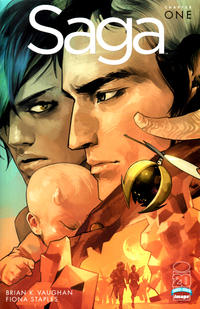 Cover Thumbnail for Saga (Image, 2012 series) #1 [Fiona Staples Retailer Incentive Cover]