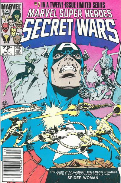 Cover for Marvel Super-Heroes Secret Wars (Marvel, 1984 series) #7 [Direct Edition]