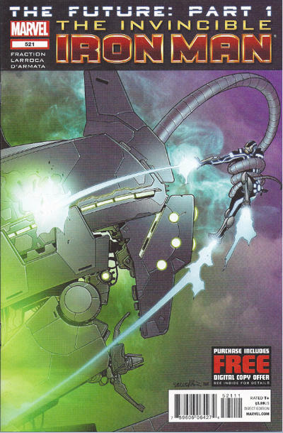 Cover for Invincible Iron Man (Marvel, 2008 series) #521
