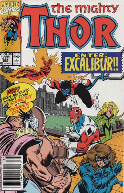 Cover for Thor (Marvel, 1966 series) #427 [Direct Edition]