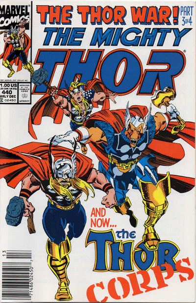 Cover for Thor (Marvel, 1966 series) #440 [Newsstand]