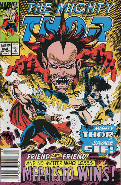 Cover for Thor (Marvel, 1966 series) #453 [Direct Edition]