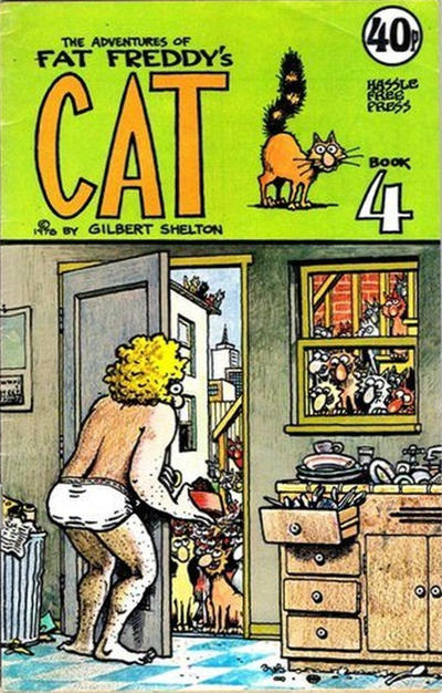 Cover for Adventures of Fat Freddy's Cat (Hassle Free Press, 1978 series) #4 [40p]