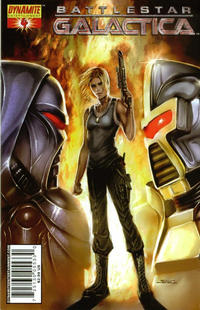Cover Thumbnail for Battlestar Galactica (Dynamite Entertainment, 2006 series) #4 [Cover A - Tyler Kirkham]