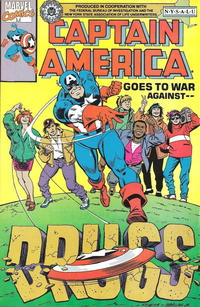 Cover Thumbnail for Captain America Goes to War Against Drugs (Marvel, 1990 series) #1 [NYSALU]