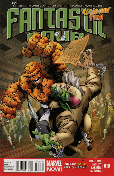 Cover for Fantastic Four (Marvel, 2013 series) #10