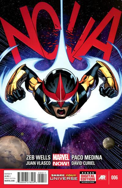 Cover for Nova (Marvel, 2013 series) #6 [Newsstand]