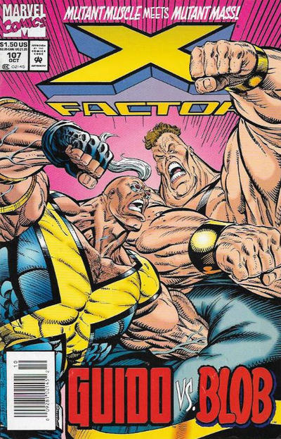 Cover for X-Factor (Marvel, 1986 series) #107 [Newsstand Edition]