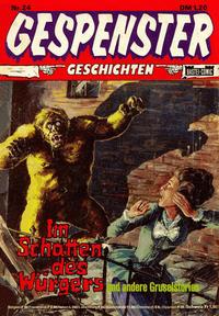 Cover Thumbnail for Gespenster Geschichten (Bastei Verlag, 1974 series) #24