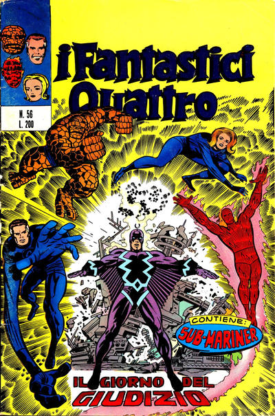 Cover for I Fantastici Quattro (Editoriale Corno, 1971 series) #56