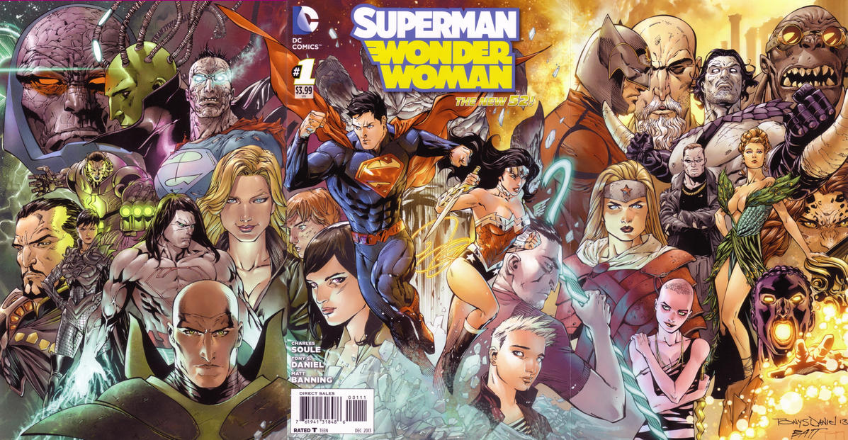 Cover for Superman / Wonder Woman (DC, 2013 series) #1