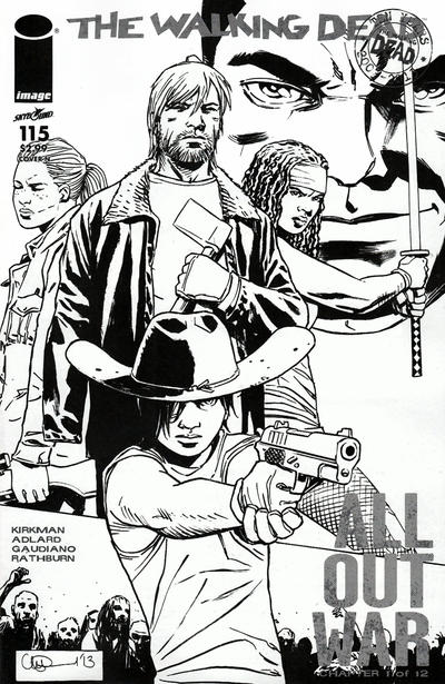 Cover for The Walking Dead (Image, 2003 series) #115 [MegaBox Exclusive 'All Out War']