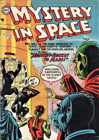 Cover for Mystery in Space (L. Miller & Son, 1955 ? series) #4