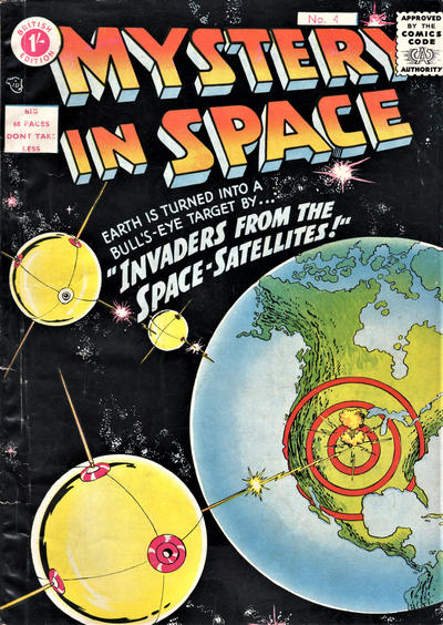 Cover for Mystery in Space (Thorpe & Porter, 1958 ? series) #4