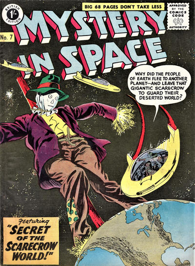 Cover for Mystery in Space (Thorpe & Porter, 1958 ? series) #7