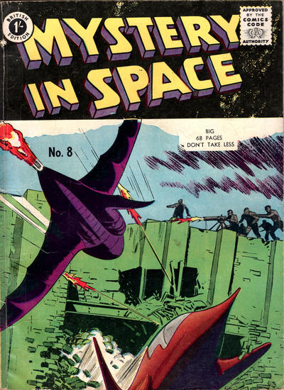 Cover for Mystery in Space (Thorpe & Porter, 1958 ? series) #8