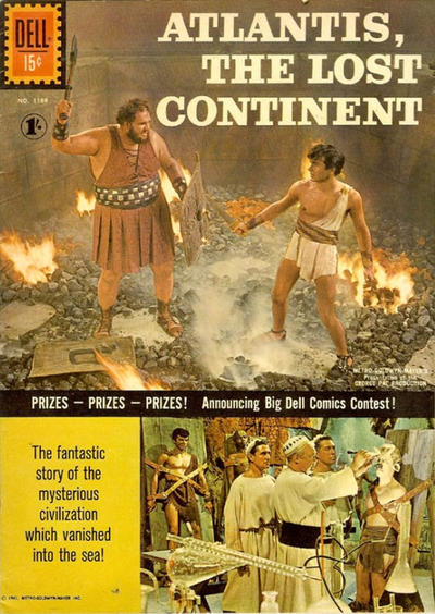 Cover for Four Color (Dell, 1942 series) #1188 [ad] - Atlantis, the Lost Continent