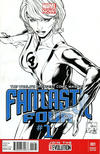 Cover for Fantastic Four (Marvel, 2013 series) #1 [Black & White Variant Cover by Joe Quesada]