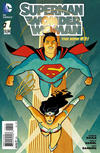 Cover for Superman / Wonder Woman (DC, 2013 series) #1 [Cliff Chiang Variant Cover]