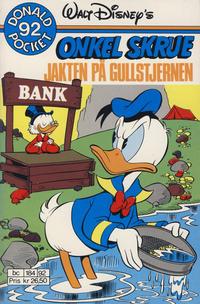 Cover Thumbnail for Donald Pocket (Hjemmet / Egmont, 1968 series) #92 - Onkel Skrue Jakten på gullstjernen [1. opplag]