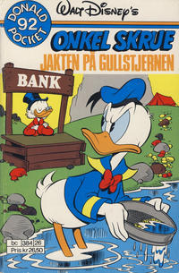 Cover Thumbnail for Donald Pocket (Hjemmet / Egmont, 1968 series) #92 - Onkel Skrue Jakten på gullstjernen [Reutsendelse]