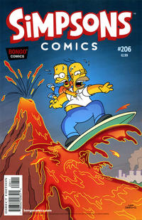 Cover Thumbnail for Simpsons Comics (Bongo, 1993 series) #206
