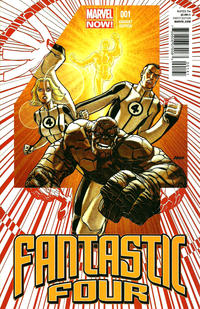 Cover Thumbnail for Fantastic Four (Marvel, 2013 series) #1 [Variant Cover by Dave Johnson]