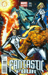 Cover Thumbnail for Fantastic Four (Marvel, 2013 series) #1 [Variant Cover by Mark Bagley]
