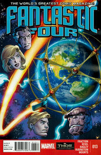 Cover Thumbnail for Fantastic Four (Marvel, 2013 series) #13 [Mark Bagley Cover]