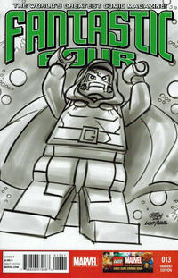 Cover Thumbnail for Fantastic Four (Marvel, 2013 series) #13 [Lego Variant Sketch Cover by Leonel Castellani]