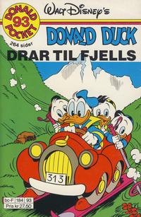 Cover Thumbnail for Donald Pocket (Hjemmet / Egmont, 1968 series) #93 - Donald Duck drar til fjells [1. opplag]