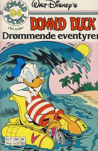 Cover Thumbnail for Donald Pocket (Hjemmet / Egmont, 1968 series) #94 - Donald Duck Drømmende eventyrer [1. opplag]