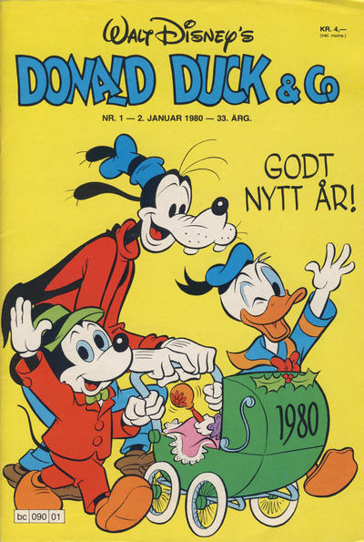 Cover for Donald Duck & Co (Hjemmet / Egmont, 1948 series) #1/1980