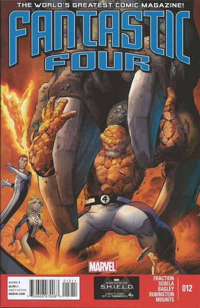 Cover for Fantastic Four (Marvel, 2013 series) #12