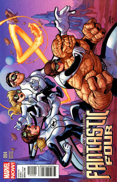 Cover for Fantastic Four (Marvel, 2013 series) #4 [Variant Cover by Terry Dodson]