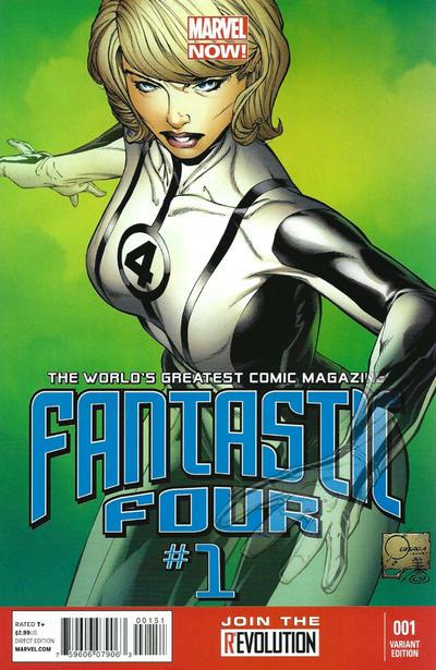 Cover for Fantastic Four (Marvel, 2013 series) #1 [Phantom Variant]