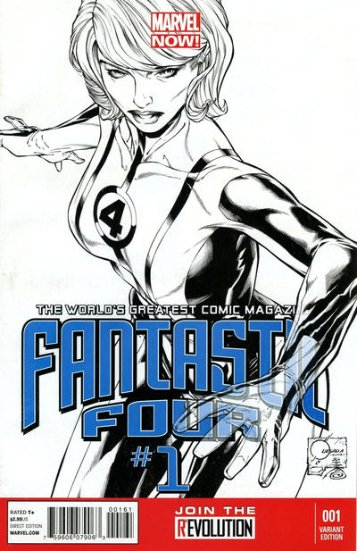 Cover for Fantastic Four (Marvel, 2013 series) #1 [Variant Cover by Joe Quesada]