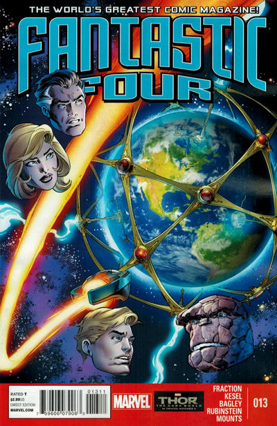 Cover for Fantastic Four (Marvel, 2013 series) #13 [Mark Bagley Cover]