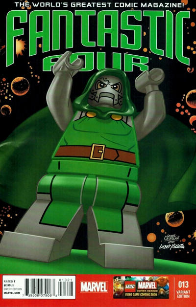 Cover for Fantastic Four (Marvel, 2013 series) #13 [Lego Variant Sketch Cover by Leonel Castellani]