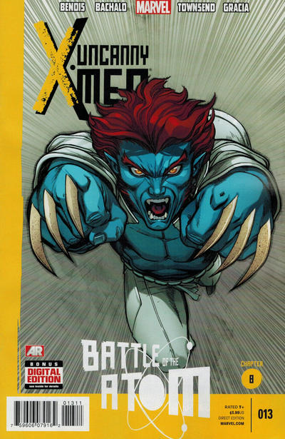 Cover for Uncanny X-Men (Marvel, 2013 series) #13 [Direct Edition]