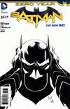 Cover for Batman (DC, 2011 series) #24 [Greg Capullo / Danny Miki Black & White Cover]