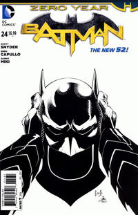 Cover Thumbnail for Batman (DC, 2011 series) #24 [Greg Capullo / Danny Miki Black & White Cover]